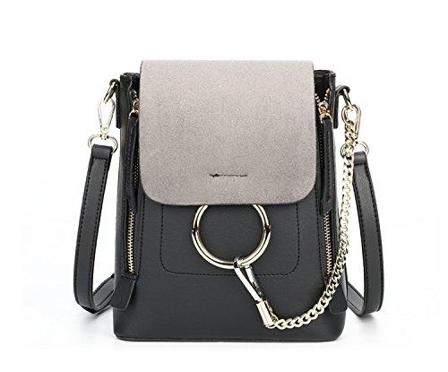 Meoaeo La Nuova Versione Coreana Spalla Pack Lady Spalla Singolo Croce Obliqua Portatile E Marrone Multiuso black