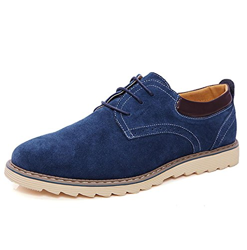Heart&M casual en cuir véritable dépoli daim cuir chaussures Blue