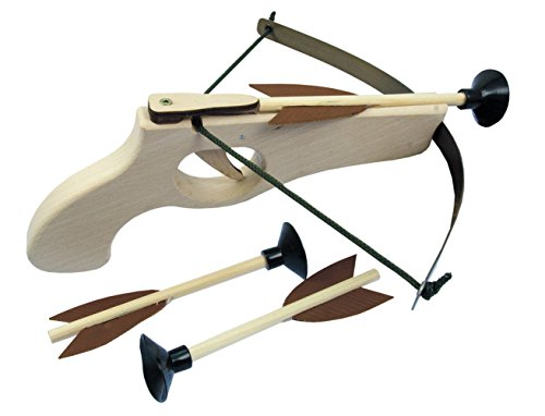 Kinder Holz-Armbrust Klein 26 cm mit 3 Pfeilen