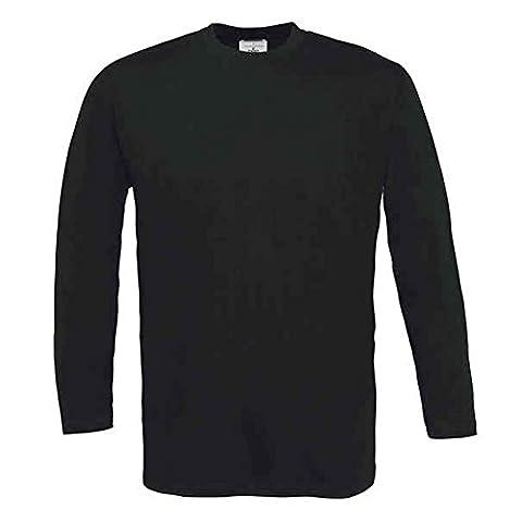 B&C Collection - T-Shirt à manches longues - Moderne - Homme - noir - X-Large