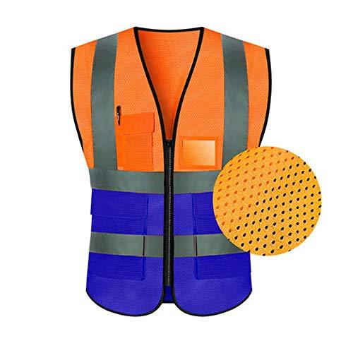 Reflektierende Weste - Reflektierende Weste Sicherheitskleidung Verkehr Reiten Jacke Hygiene Arbeiter Fluoreszierende Anzug Autofahrer Männer Und Frauen (Multi-Color-Auswahl) Gute Qualität