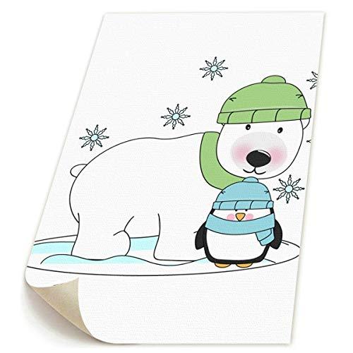 SDGYGSNi Kunstdruck auf Leinwand, Motiv Eisbär und Pinguin, -