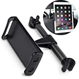 TecHERE Supporto Auto Poggiatesta Universale per Tablet Smartphone, Compatibile con Dispositivi da 4.4-11 pollici come iPad 2018 PRO 9.7, 10.5, iPad Air Mini 2 3 4, iPhone, Samsung Tab e altri - Nero