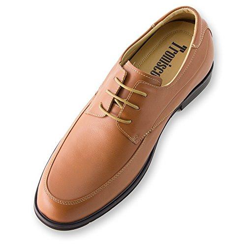 Masaltos - Chaussures rehaussantes pour homme. Jusqu'à 7 cm plus grand! Modèleo Verona Brun