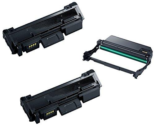 drum unit Trommeleinheit MLT-R116 & 2X Toner MLT-D116L kompatibel für Samsung Xpress SL-M2625 M2625D M2675F M2675FN M2825DW M2825ND M2835 M2835DW M2875FD M2875FW M2875ND M2885 M2885FW - Schwarz, hohe Kapazität