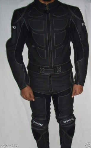 *Lederkombi Motorradbekleidung leather suits black XL*