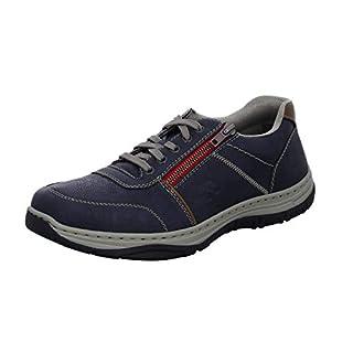 Rieker Herren 16300-14 Sneaker, Blau (Lake/Mogano 14), 45 EU