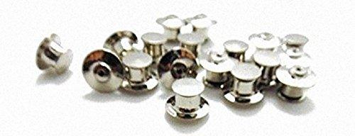 PIN Keeper Pin Locker Pin Sicherungen Anstecknadel Badge Butterfly Verschluss (silber)