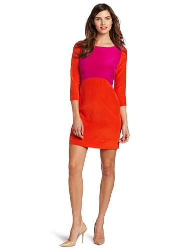 Eliza J Women's Sleeved Colorblock