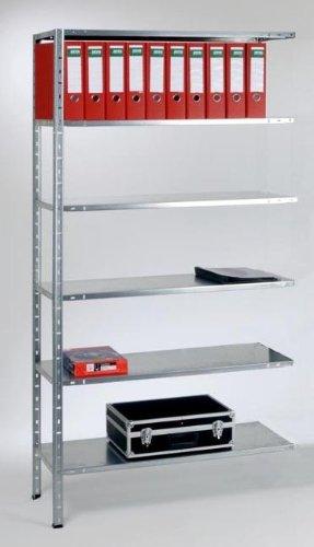 Verzinkt Solide Regal (Anbauregal für Mammut® Schraubregal verzinkt - Größe wählbar - 80x180x35)