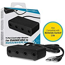 Hyperkin 4-Port Controller Adapter for Game Cube to Switch Wii U/PC/Mac (Black)