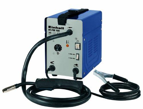 Einhell Fülldraht Schweißgerät BT-FW 100 (31 V, inkl. Masseklemme, Brenner, Ventilatorkühlung, Schweißschirm, Schlackenhammer, Trageriemen) - 2