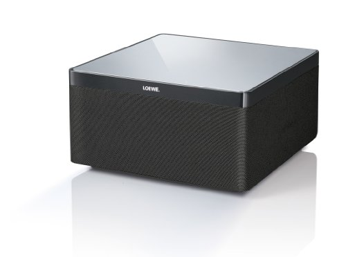 Loewe 51205L00 AirSpeaker Bassreflex Lautsprecher (80 Watt, AirPlay) für Apple iPhone/iPad/iPod, Aluminium/schwarz