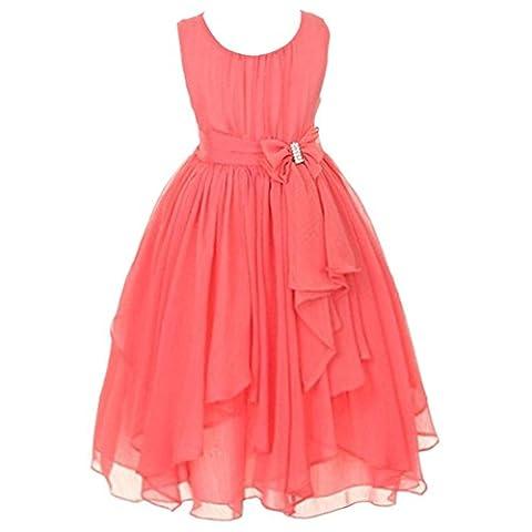 LSERVER Mädchen Sommer Kleid mit