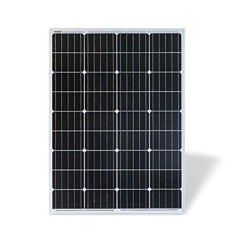 Protron® Mono 100W Solarmodul Photovoltaik Monokristallin Solarpanel Solarzelle 100Watt Mono Solar 12v 18v für Wohnmobil, Garten, Boot