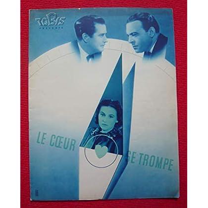 Dossier de presse de Le cœur se trompe (1939) - 23x31cm, 16 p - Film de Bernd Hofmann avec Paul Hartmann, Leny Marenbach – Photos sépia - résumé du scénario – Bon état.