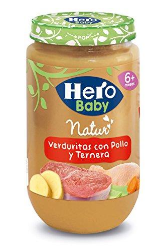 Hero Baby - Verduritas De La Huerta Pollo Y Ternera 235 gr - Pack de 6 (Total 1410 gr)