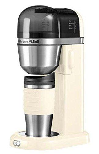 KitchenAid 5KCM0402 Independiente - Cafetera (Independiente, Cafetera de filtro, 1 L, De café molido, 700 W, Almendra, Crema de color)
