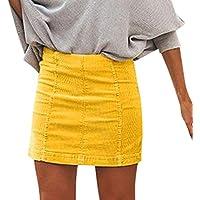 Falda Corta Mujer Color Sólido Bolsa Cadera Sexy Dwevkeful Moda Casual  Basica Falda de Bar Estilo 1e80ff02e7c5