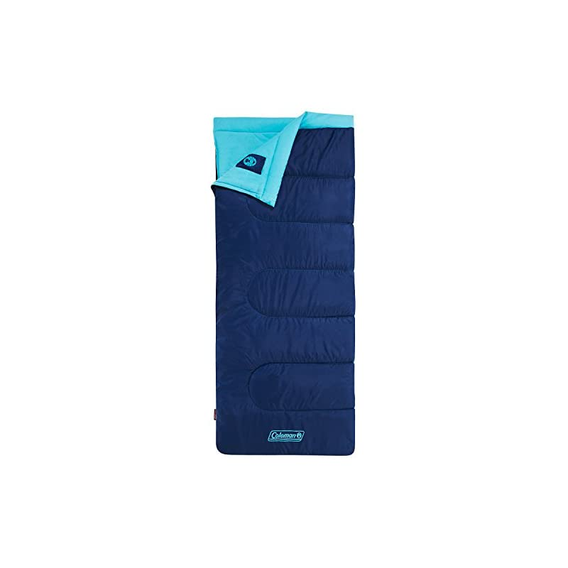 Coleman Heaton Peak Sleeping Bag – 205 x 85cm Sleeping Bag – Blue