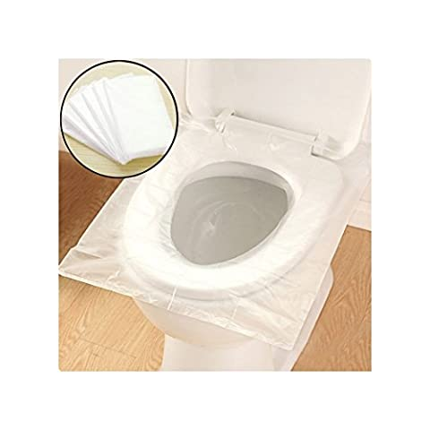 Tapis de siège de siège de toilette à usage unique, par Purple-Salt® Anti-bactérien anti-bactérien Safe Portable Maternity Sanitary Toilet Paper Pad pour les hôpitaux de voyage Hospital Public Restrooms - 10 Pack