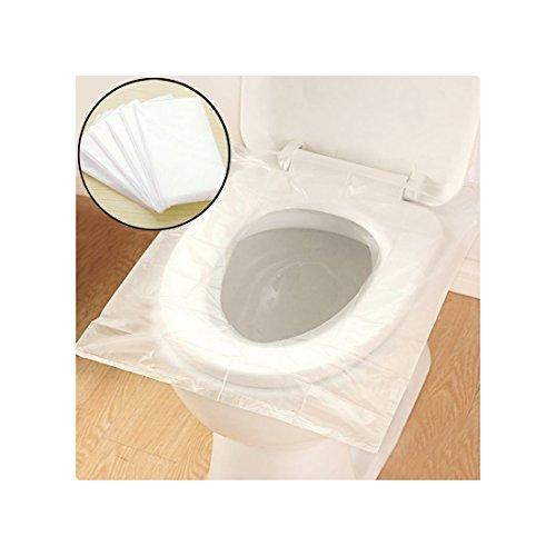 Reise Einweg-WC Sitzbezug Matte, von Purple-Salt® Wasserdicht Anti-Bakterien Safe Portable Mutterschaft Sanitär Toilettenpapier Pad für Reise Hotel Krankenhaus Öffentliche Toiletten - 50 Pack