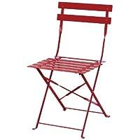 Bolero gh5552x Pflaster Stil Stahl Stühle für Innen und Außenbereich, 800mm x 387mm x 471mm, rot