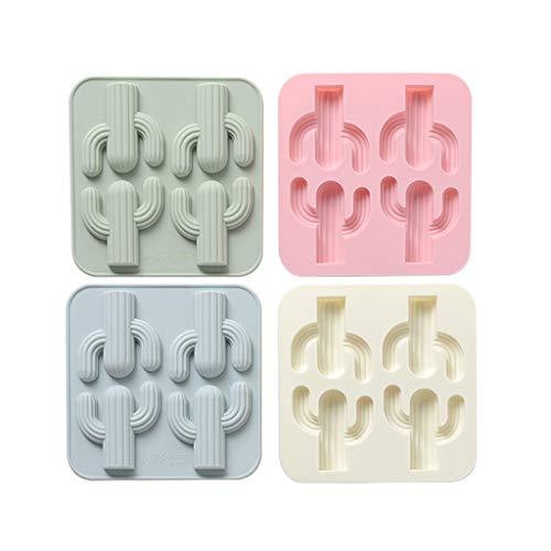 4-Pack Cubo de hielo bandeja Cactus Cactus silicona moldes for chocolate DIY...