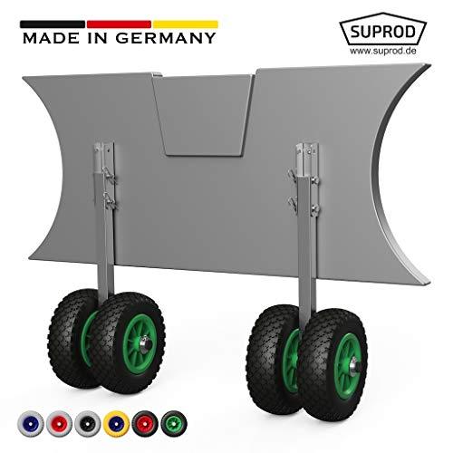 SUPROD Slipräder, Transporträder, Heckräder für Schlauchboot, EW200, Edelstahl, schwarz/grün