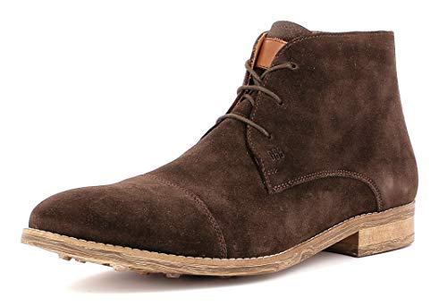Gordon & Bros Herren Desert Boots Danilo S181736,Männer Stiefel,Halbstiefel,Schnürboots,Bootie, Chukka Boot,DK.Brown,EU 44
