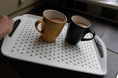 Die Ultimative rutschfeste Ölpest weiß TV-Bett Abendessen Lap Tee Getränke Serviertablett Behinderung Kinder (klein: 41, 5cm x 29,4cm) (Kinder-tv-lap Tray)
