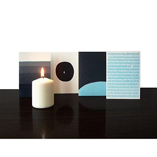 Trauerkarten - liebevoll gestaltet im 4er Set inkl. Umschläge