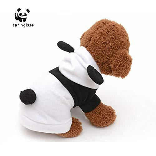 Kostüm Katze Panda - Springisso Haustier Kostüm Panda Mantel Hund Katze Kleidung Suite Outfit für Halloween Weihnachten Dress Up Cosplay Outfit,XS