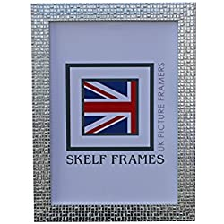 Skelf Frames Mosaik Silber Foto Bild Poster Rahmen mit Glas (33x 27,9cm)