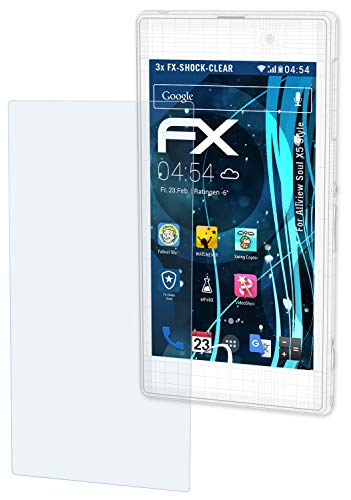 atFolix Schutzfolie kompatibel mit Allview Soul X5 Style Panzerfolie, ultraklare & stoßdämpfende FX Folie (3X)
