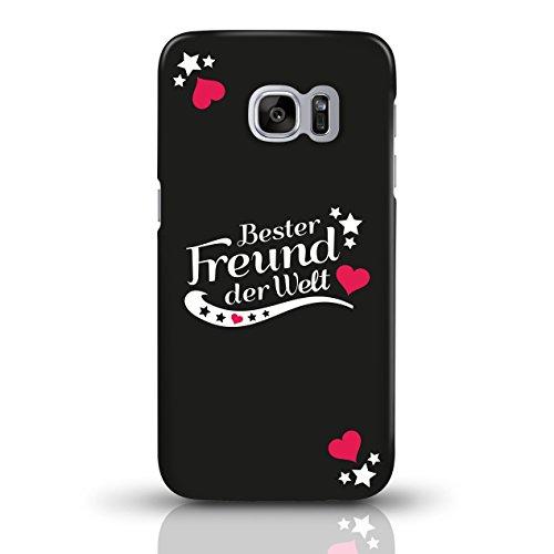 """JUNIWORDS Handyhüllen Slim Case für Samsung Galaxy S7 mit Schriftzug """"Bester Freund der Welt"""" - ideales Weihnachtsgeschenk für den Freund - Motiv 4 - Handyhülle, Handycase, Handyschale, Schutzhülle fü motiv 1"""