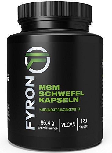 FYRON MSM - 100% Rein ohne Zusätze - 120 Vegane Kapseln -