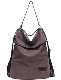 KSK KAISHEK Sacchetto di spalla multifunzionale del Daypack dello zaino dello zaino del sacchetto di spalla delle donne della tela lavoro, scuola e casuale quotidiano