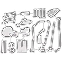 FKY - Plantilla para troquelar, diseño de calaveras de Halloween, para manualidades, álbumes