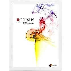 Crixus35 Bilderrahmen für 60 x 137 cm Bilder, Farbe: Weiß-matt, Holzrahmen MDF Maßanfertigung mit Acryl Kunstglas und MDF Rückwand innen Weiß lackiert, Rahmen Breite: 35mm, Aussenmaß: 65,6 x 142,6 cm