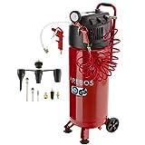 Arebos Compresseur d'air 50 litres / 1500 W / 10 bars / 97 dbA / puissance d'aspiration 220 l / avec kit d'accessoires 13 pièces / mobile