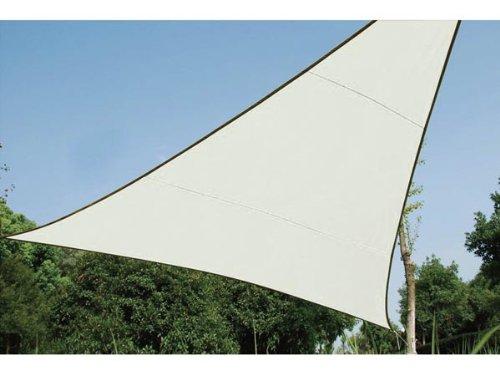 VOILE SOLAIRE - TRIANGLE - 5 X 5 X 5 M - COULEUR: CRÈME