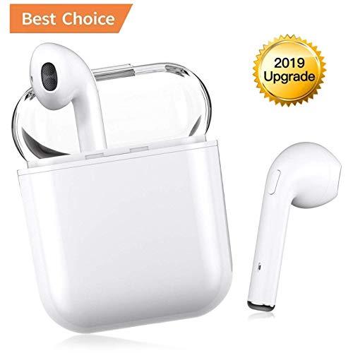 VCshow True Wireless Kopfhörer Bluetooth 5.0 TWS In-Ear Bluetooth Headset und Integriertem Mikrofon Mini Ohrstöpsel mit 15H Playtime Ladehülle für Apple, AirPods, iPhone/Android/iPad