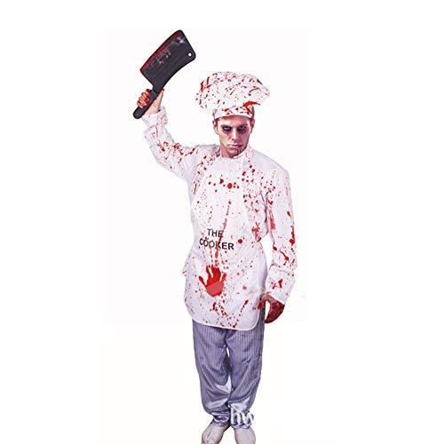 Kostüm Erwachsene Für Koch - XTF Halloween Erwachsene Kinder Horror Männlicher Koch Kostüm COS Million Weihnachten Holy Day Thriller Party Ordentlich Karneval Requisiten