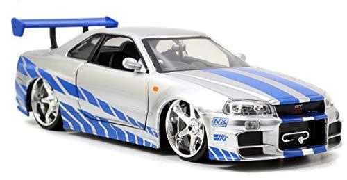 Jazwares Metals Diecast,Nissan Skyline GT-R, Fast and Furious, Brian o \'Conner\' s, Escala 1: 24