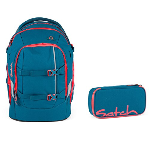 Satch by Ergobag Schulrucksack-Set 2-tlg Pack Deep Sea 307 türkis