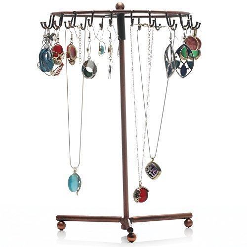 Readaeer - espositore girevole per collane, braccialetti e orecchini