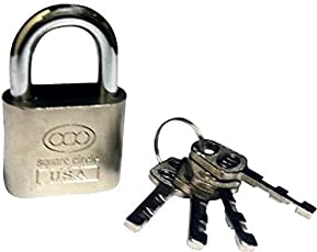 HOMEPRODUCTS4U Stainless Steel 50mm Double Locking System with 4 Keys, Multicolour