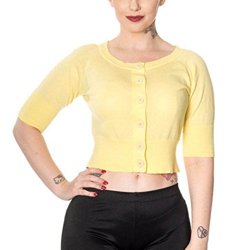 Dancing Days by Banned Strickjacke RAVEN CARDIGAN 3141 Yellow