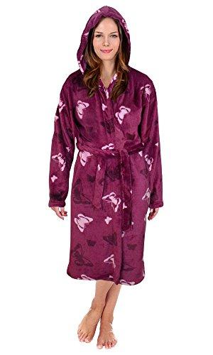 Ladies Hooded Housecoat Fleece Bath Robe Dressing Gown Soft Womens Size 8-22 New - 41rJ7aOejaL - Ladies Hooded Housecoat Fleece Bath Robe Dressing Gown Soft Womens Size 8-22 New